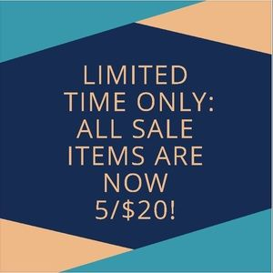 Other - All sale items are now 5/$20!! New items added!